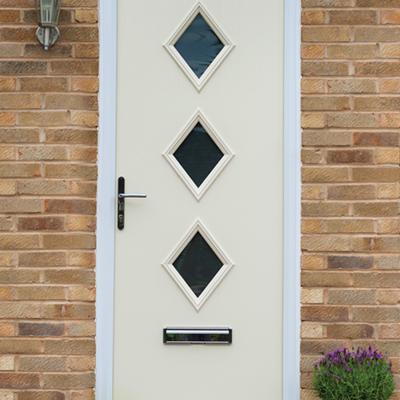 cream traditional composite door