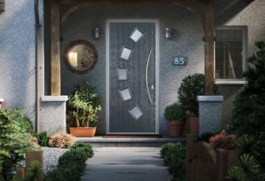 contemporary door - 5 square curved